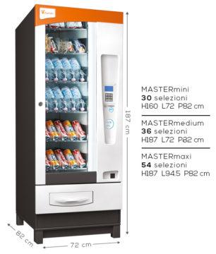 distributori automatici di bevande e snack harvin master