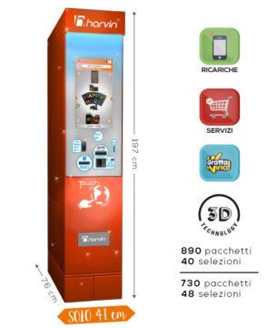 distributore automatico tabacchi touch screen harvin supercompact 40-48