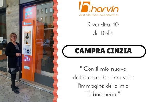 distributore automatico tabacchi touch screen harvin SPC biella