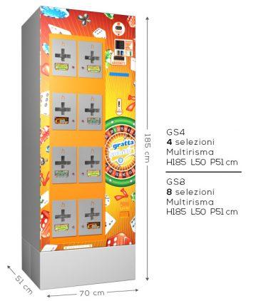 Distributori automatici di gratta e vinci Harvin